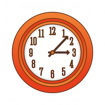 Immagine icona orologio da parete arancione