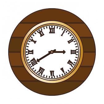 Immagine icona orologio da parete marrone
