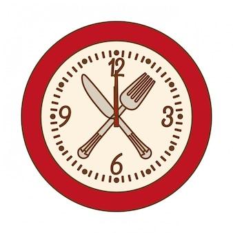 Immagine icona orologio da parete rosso
