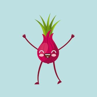 Immagine icona vegetale kawaii