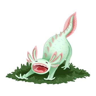 Immagine isolata axolotl carino
