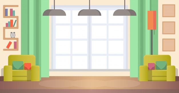 Immagine living room at home. interno accogliente