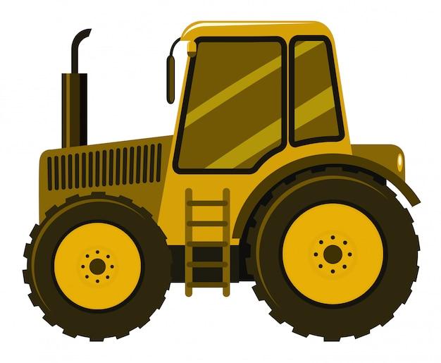 Immagine singola del trattore giallo