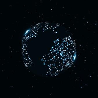 Immagine tecnologia del globo