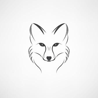 Immagine vettoriale di un disegno volpe su uno sfondo bianco