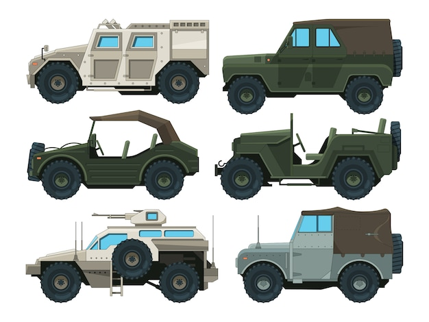 Immagini a colori di veicoli pesanti militari