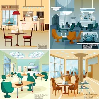 Immagini vettoriali di bar ristorante