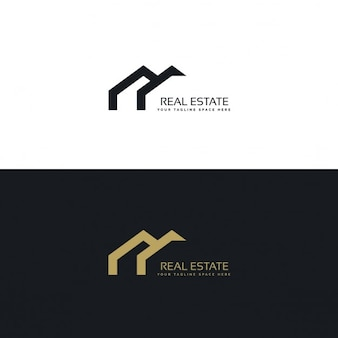Immobiliare design creativo logo in stile minimal