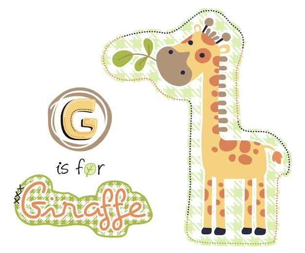 Impara a leggere con una carina giraffa