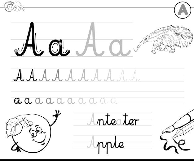 Impara a scrivere la lettera a
