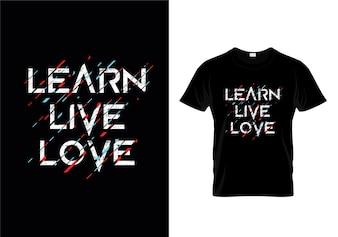 Impara il T-Shirt Design di Love Love
