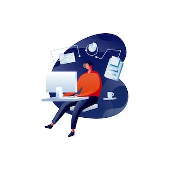 Imparando con un'illustrazione del computer