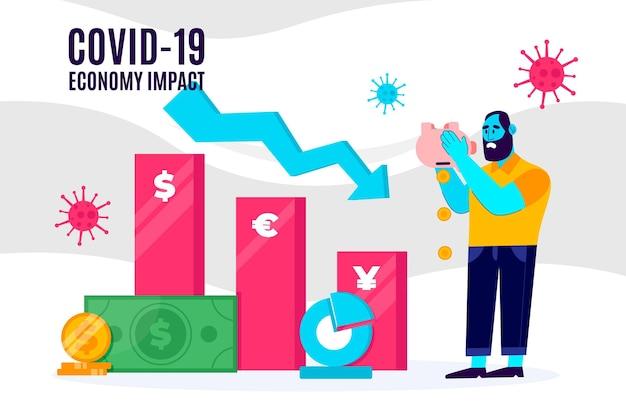 Impatto negativo della regressione dell'economia coronavirus