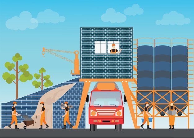 Impianto di cemento industriale