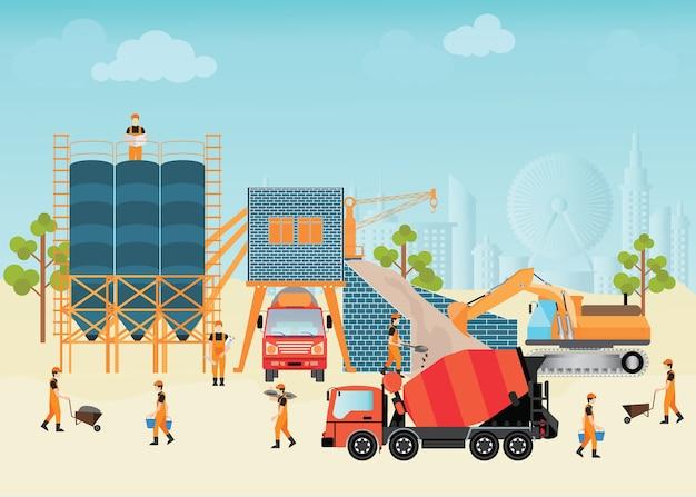 Impianto di lavorazione industriale del cemento