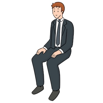 Impiegato seduto