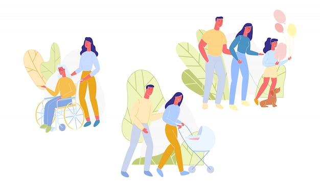 Imposta come i bambini crescono e i genitori invecchiano.