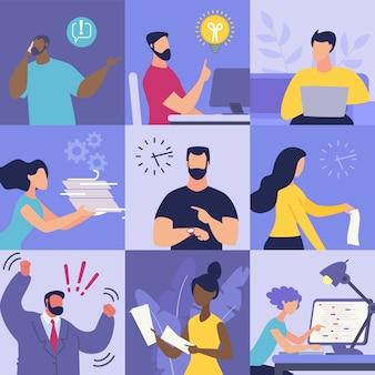 Imposta emozioni informative sul posto di lavoro.