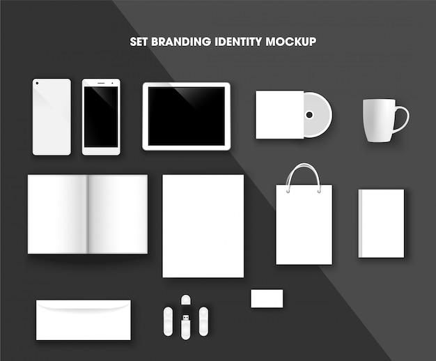 Imposta il mockup di identità del branding