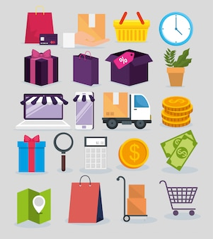 Imposta lo shopping online con la posizione del servizio di consegna