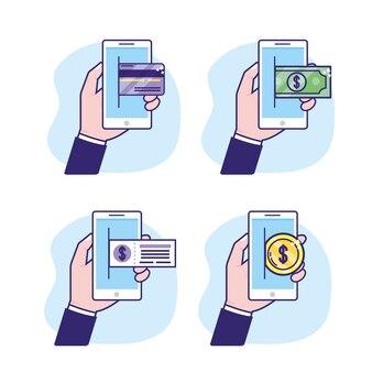 Imposta lo smartphone con transazioni digitali e di sicurezza