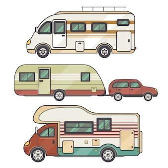 Imposta struttura di trasporto - roulotte