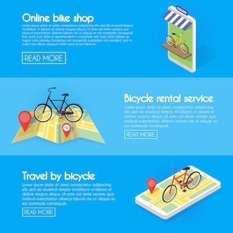 Impostare banner per biciclette.