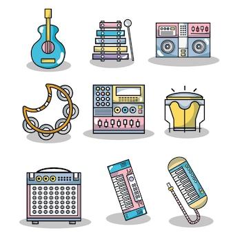 Impostare elementi musicali tecnologici per deporre la musica