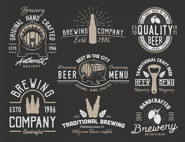 Impostare emblemi con oggetti di birra