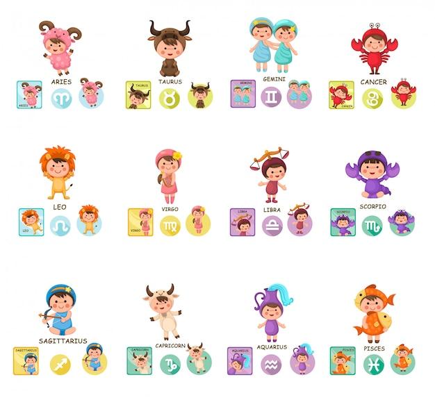 Impostare i segni zodiacali dei cartoni animati