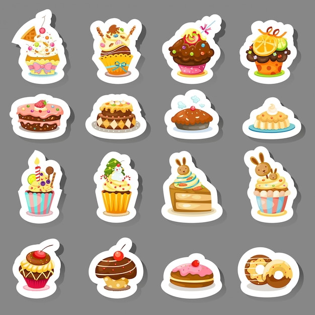 Impostare icone cupcake
