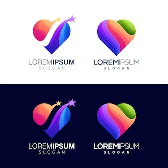 Impostare il design del logo amore