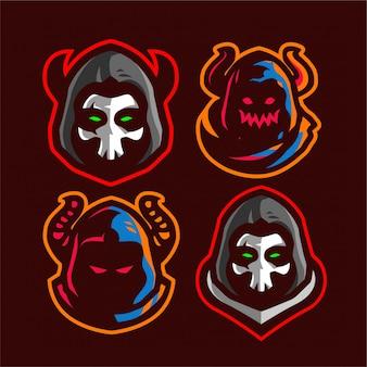 Impostare il logo e-sport di grim reaper