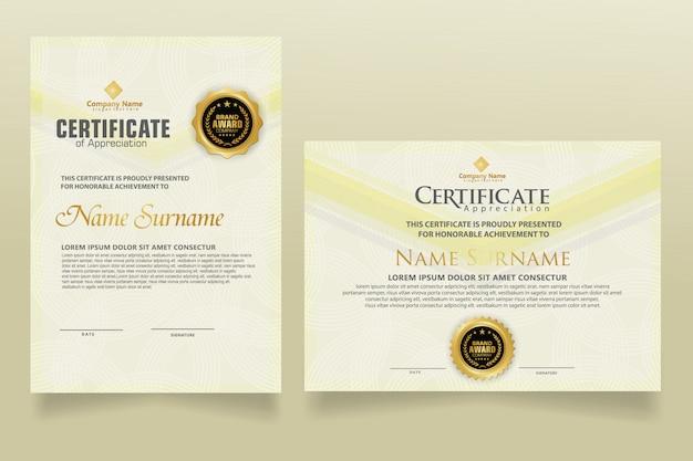 Impostare il modello di diploma certificato