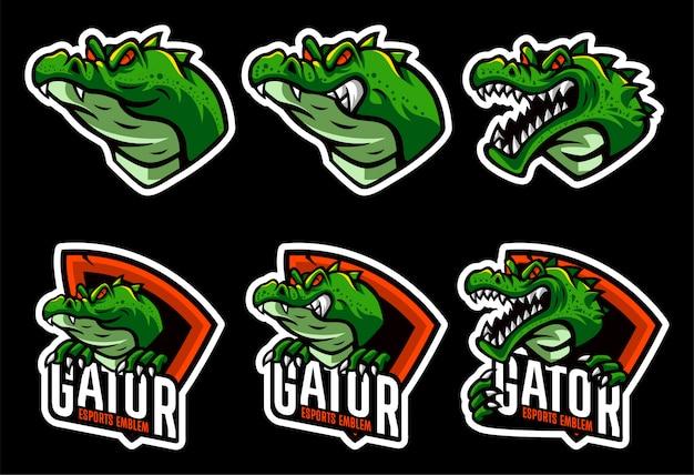 Impostare il modello logo coccodrillo
