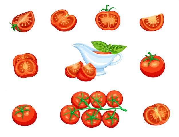 Impostare il pomodoro rosso