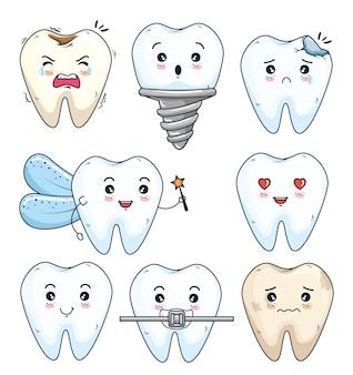 Impostare il trattamento dei denti e l'igiene con la protesi