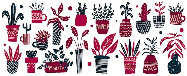 Impostare il vaso di fiori casa semplice stile ingenuo.