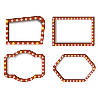Impostare l'illustrazione realistica di illuminazione del cinema