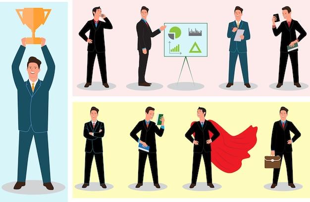 Impostare l'uomo d'affari
