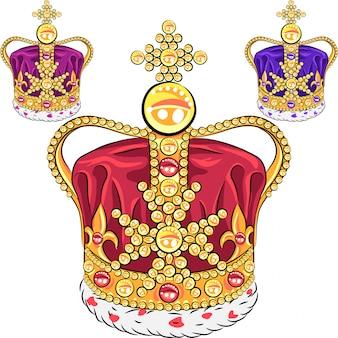 Impostare la corona d'oro