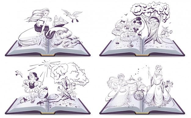 Impostare la fiaba del libro aperto