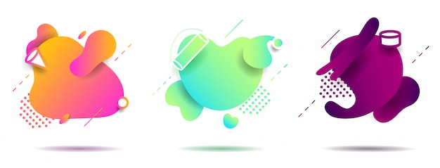 Impostare la forma geometrica liquida astratta