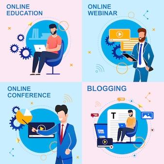 Impostare la formazione online iscrizione piatta, blogging.