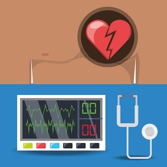 Impostare la macchina per il dolore al torace e l'elettrocardigrafia