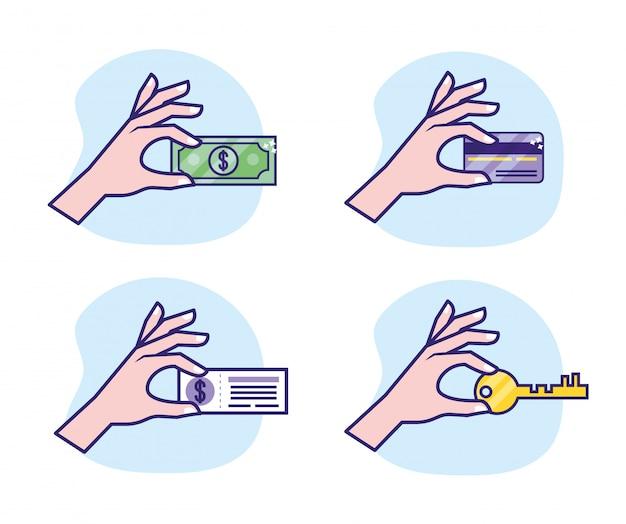 Impostare la mano con la transazione digitale e di sicurezza