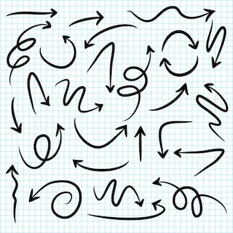 Impostare le frecce disegnate a mano