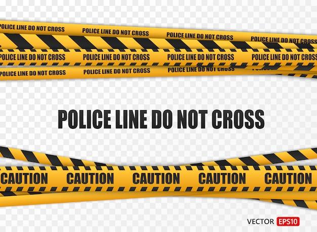 Impostare le linee di attenzione isolate. nastri d'avvertimento. segni di pericolo.