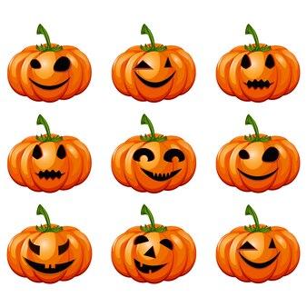 Impostare le zucche per halloween.