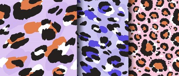 Impostare leopardo disegno seamless